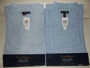 NWT Mens Club Room Light Weight Cotton Robe One size fits most S M L