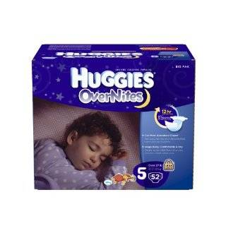 Huggies OverNites Diapers, Size 5, Big Pack, 52 Count