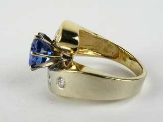 2950 Custom 1.25ct Natural Tanzanite .25ctw Diamond 14k 2 Tone Gold
