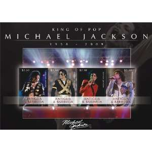 Michael Jackson   King of Pop Antigua Stamps ANT0910SH
