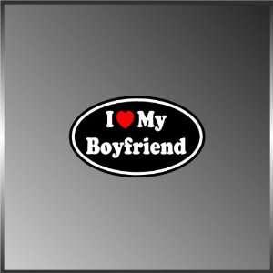 I Love My Boyfriend BF Valentine Heart Vinyl Euro Decal