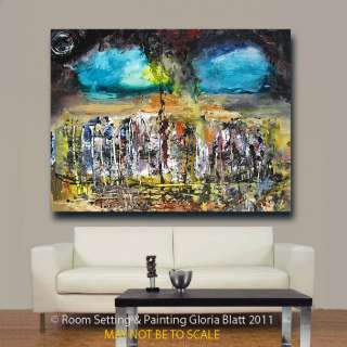 ABSTRACT ART PAINTING CONTEMPORARY MODERN GLORIA Blatt