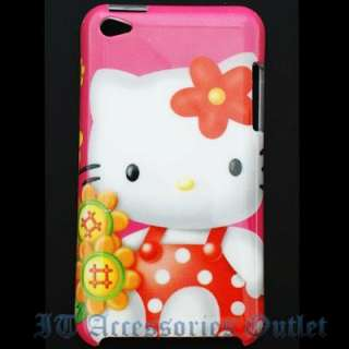 Sanrio Hello Kitty Apple iPod Touch 4 Back Cover Case