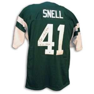 Matt Snell New York Jets Green Throwback Jersey Inscribed