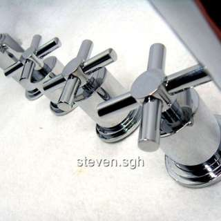 2010 Luxury 5 Pcs Bath Tub Faucet With Hand Held Shower