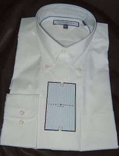 Nwt $65 Authentic Tommy Hilfiger Mens Dress Shirt Button Down White M