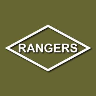 US Army Rangers Lozenge Patch Style Vinyl Decal Sticker