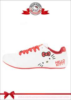 Sanrio Hello Kitty Ladys Low Profile Casual Shoes White Red 910652