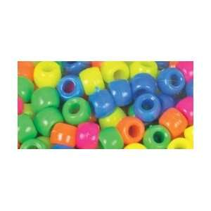 Cousin Beads Pony Bead Mix Neon; 6 Items/Order: Arts