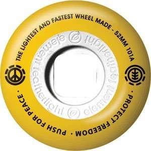 Element No War 50/50 Yellow 52mm 101a Yellow/Black Wheels