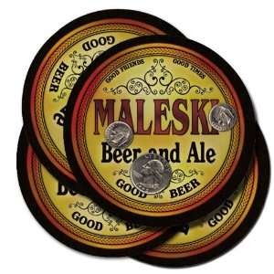 Maleski Beer and Ale Coaster Set: Kitchen & Dining