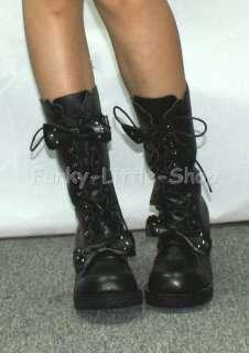 Punk Rock Emo Gothic Black boots shoes US 5.5   10.5