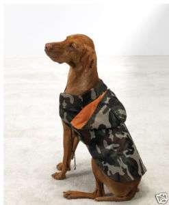 Casual Canine Hooded Camo Dog Rain Coat Jacket XXS XL