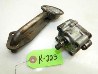 Kubota B6100 4x4 Tractor D650 14hp Diesel Engine Oil Pump