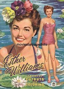Vintage ESTHER WILLIAMS PAPER DOLLS LASR REPRO FREESHW2
