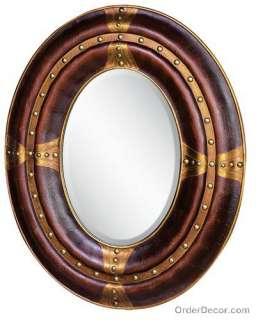 Large 46 Oval Traditional Wall Mirror, Vanity/Mantle
