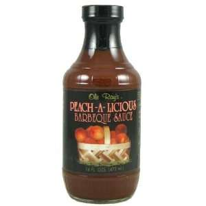 Ole Rays Peach A Licious Barbecue Sauce Grocery & Gourmet Food