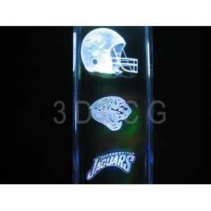 NFL Jacksonville Jaguars 3D Laser Etched Crystal 6 Inch