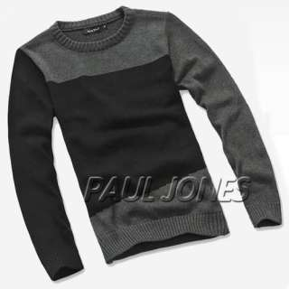 ~Warmer Luxury Mens Casual Crew Neck Knitting Sweater Two Style+XS~L