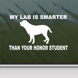 Lab White Sticker Funny Window Vinyl Laptop White Decal