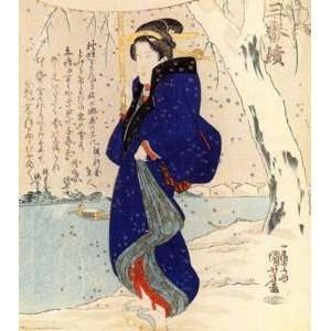 Keyring Japanese Art Utagawa Kuniyoshi Women 27