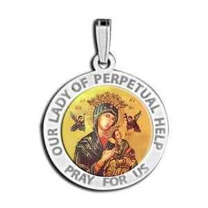 Our Lady Of Perpetual Help Medal Color: Jewelry