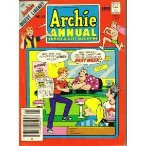 Archie Annual Comics Digest Magazine, #43 ARCHIE COMICS Books