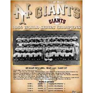 San Francisco Giants    World Series 1954 New York Giants    13 x 16