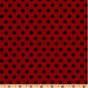 44 Wide Crazy for Dots & Stripes Polka Dot Red/Black