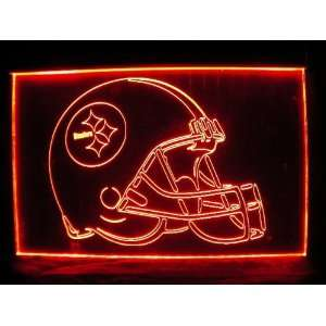 NFL  Pittsburgh Steelers Helmet Neon Light Sign