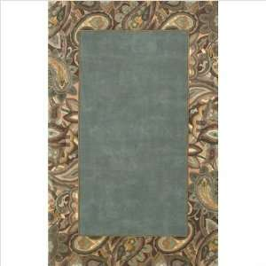 Emerald Blue and Green Wool Rug Size Runner 2 6 x 8