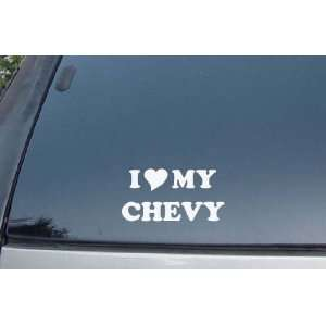I Love My Chevy Vinyl Decal Stickers