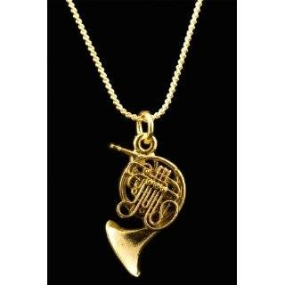 French Horn Necklace   Gold