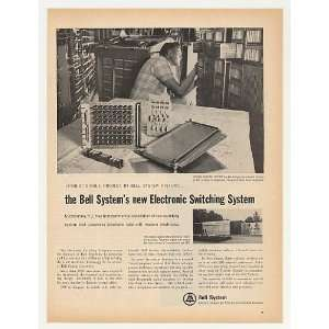 1965 Bell Telephone Electronic Switching System NJ Print Ad