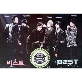 lineup horiz black POSTER 34 x 23.5 Korean boy band B$ST the BEAST
