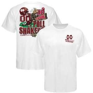Bulldogs vs. Alabama Crimson Tide White Poll Shakers Score T shirt