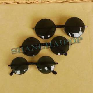 Dark Lens Sunglasses 60s Round Frame Shades Sunnies Vintage Retro