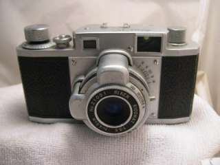 Vintage Ricoh 35 Film Camera W/ Leather Case & Flash Attachment #V704