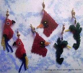 BEADED DANGLES Seed Bead Earrings Project Book New OOP
