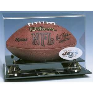 New York Jets NFL Deluxe Football Display Case   CAS NYJ