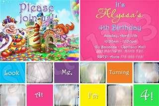 Custom Candyland Personalized Invitations  Many designs