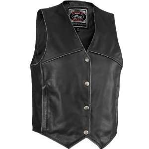 River Road Womens Rambler Distressed Leather Motorcycle
