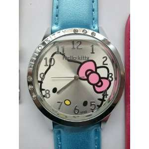 Cute Crystal Diamond Hello Kitty Style Watch,Baby Blue(With our KT