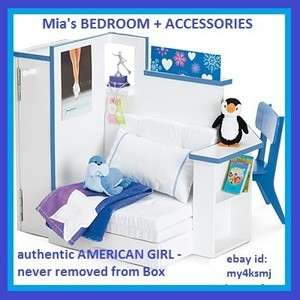 American Girl Doll MIAS BEDROOM + ACCESSORIES for Room Bed Chair