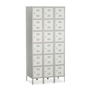 Six Tier Two tone 3 Column Locker with Legs SAF5527GR Office Products
