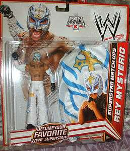 2012 MATTEL WWE REY MYSTERIO WITH FIGURE AND YOUNG CHILD ADULT WHITE