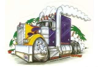 Tractor Trailer Truck DECAL STICKER