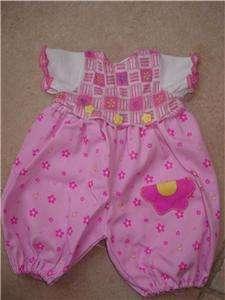 1998 TOY BIZ baby crawl n walk dolL PINK outfit T71