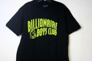 BILLIONAIRE BOYS CLUB T SHIRT ARCH LOGO SZ S 2XL BLACK NEON GREEN BBC