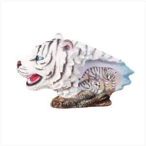 WHITE TIGER HEAD Home & Kitchen